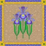 Stained glass iris Royalty Free Stock Image