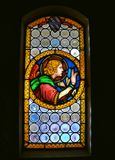 Stained glass in an Italian church  Royalty Free Stock Photo