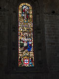 Stained Glass in the Jeronimos Monastery  in Lisbon Portugal Royalty Free Stock Photos