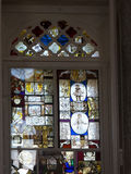 Stained Glass in the Jeronimos Monastery  in Lisbon Portugal Royalty Free Stock Photography