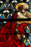 Stained glass Jesus. Religious perspective with a stained glass Jesus Royalty Free Stock Photos