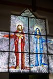 Stained glass with Jesus and Mary Stock Photography