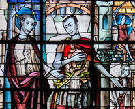 Stained Glass - Jesus and Pontius Pilate Royalty Free Stock Images