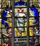 Stained Glass - Jesus rising from the grave Stock Photos