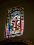 Stained glass Jesus Stock Photography