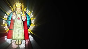Stained glass with Jesuschild (Seamless Loop) royalty free illustration