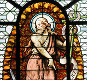 Stained Glass - John the Baptist Stock Photography