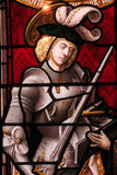 Stained Glass Knight stock photography