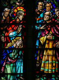 Stained Glass in Koekelberg, Brussels Stock Photos