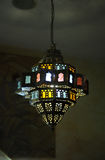 Stained glass lamp on the ceiling Stock Photos