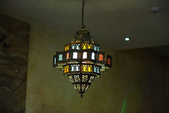 Stained glass lamp on the ceiling Royalty Free Stock Photography