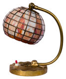 Stained glass lamp isolated Stock Photo