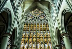 Stained Glass, Landmark, Cathedral, Gothic Architecture Royalty Free Stock Photography