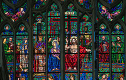 Stained Glass - Last Judgment Stock Image