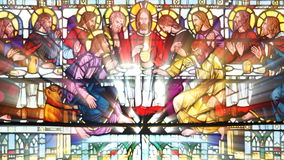 Stained Glass The last supper (Loop) stock illustration