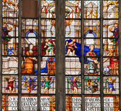 Stained Glass in Lier Stock Photography