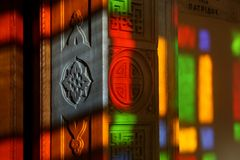 Stained glass light Royalty Free Stock Images