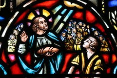 Stained Glass - Loaves Royalty Free Stock Photography