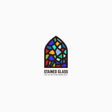Stained glass logo Royalty Free Stock Images