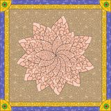 Stained glass lotus Royalty Free Stock Images