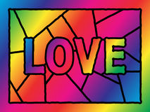 Stained Glass Love Stock Photography