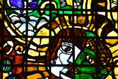 Stained glass  man's face Stock Photo