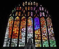 Stained glass in Manchester Cathedral Stock Photography
