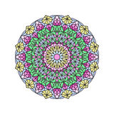 Stained glass mandala hand draw Royalty Free Stock Photos