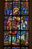 Stained glass mary Royalty Free Stock Images