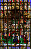 Stained Glass in Mechelen Cathedral stock photos
