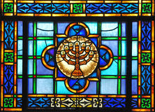Stained glass Menorah royalty free stock photos