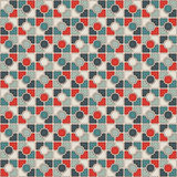 Stained glass mosaic abstract background. Retro colors checkered wallpaper. Seamless pattern with geometric ornament. Stock Photo