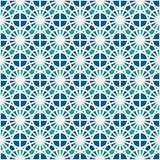 Stained glass mosaic seamless surface pattern. Moroccan ceramic tile motif. Openwork ornament. Kaleidoscope background. Royalty Free Stock Image