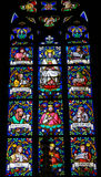 Stained Glass - Mother Mary and Prophets Stock Images