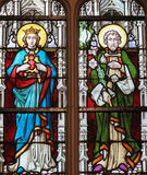 Stained Glass - Mother Mary and Saint Joseph Royalty Free Stock Photography
