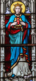 Stained Glass - Mother Mary Stock Image
