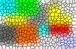 Stained glass and multi color geometric pattern vector illustration