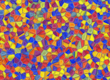 Stained-glass multi colored window backgrounds Stock Photography