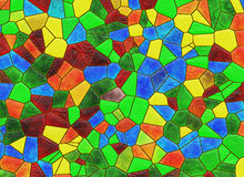Stained glass multicolored window backgrounds Royalty Free Stock Photos
