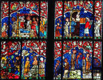 Stained Glass - New Testament Scenes Stock Photo