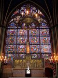 Stained glass in Notre Dame de Paris, France Royalty Free Stock Photos