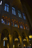 Stained Glass of Notre Dame de Paris royalty free stock image