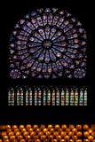 Stained glass notre-dame paris Stock Image