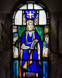 Stained Glass Of Queen Margaret In St Margaret S Chapel. Stock Photography