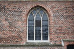Stained glass of old Dutch church stock photography