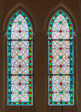 Stained Glass in the oldest Catholic church of Thailand Royalty Free Stock Photography