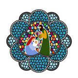 Stained Glass Ornament Baby Jesus Stock Photo