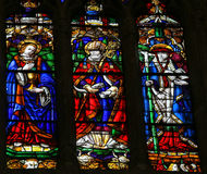 Stained glass in Oviedo Stock Photo