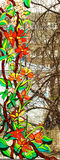 Stained-glass painting royalty free illustration