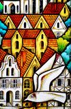 Stained-glass panel Stock Photography